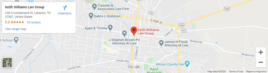 Keith Williams Law Group Map