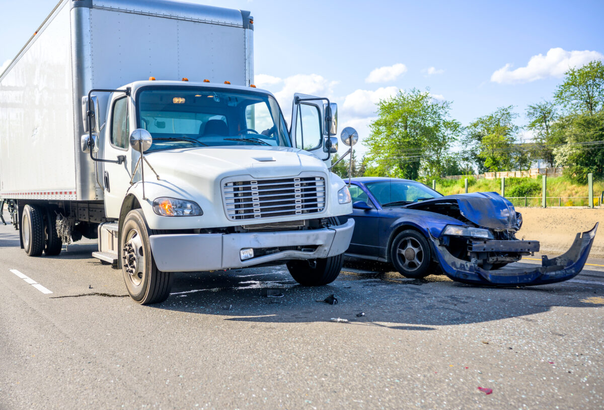 Truck accident in East Nashville Tennessee
